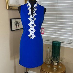 Vince Camuto embroidered shift dress new sz 10